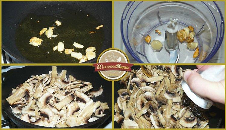 Лазанья с грибами под соусом песто и бешамель. Приготовление. Шаг 2