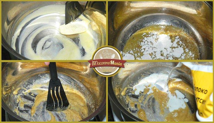 Лазанья с грибами под соусом песто и бешамель. Приготовление. Шаг 5