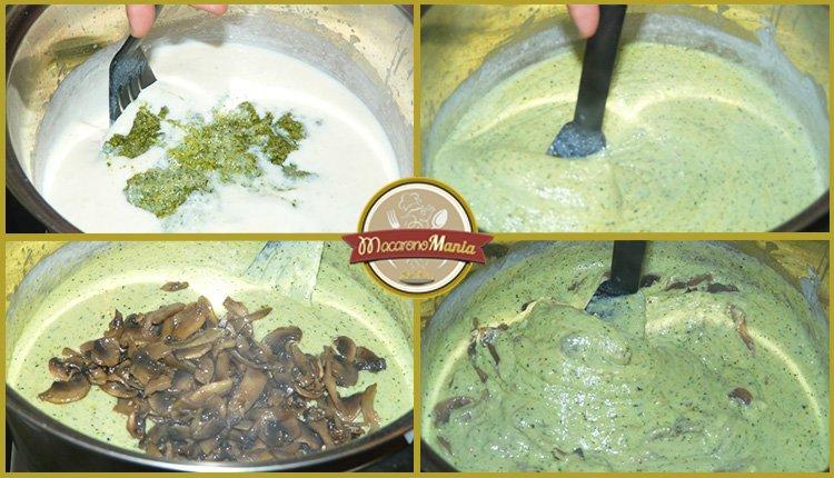 Лазанья с грибами под соусом песто и бешамель. Приготовление. Шаг 7