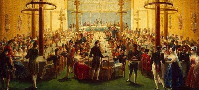 Дорогой ужин 18 века