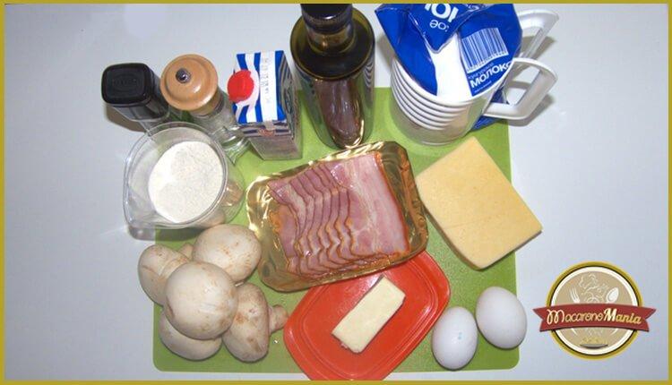 Шпецле (или немецкие клецки) с беконом и сыром