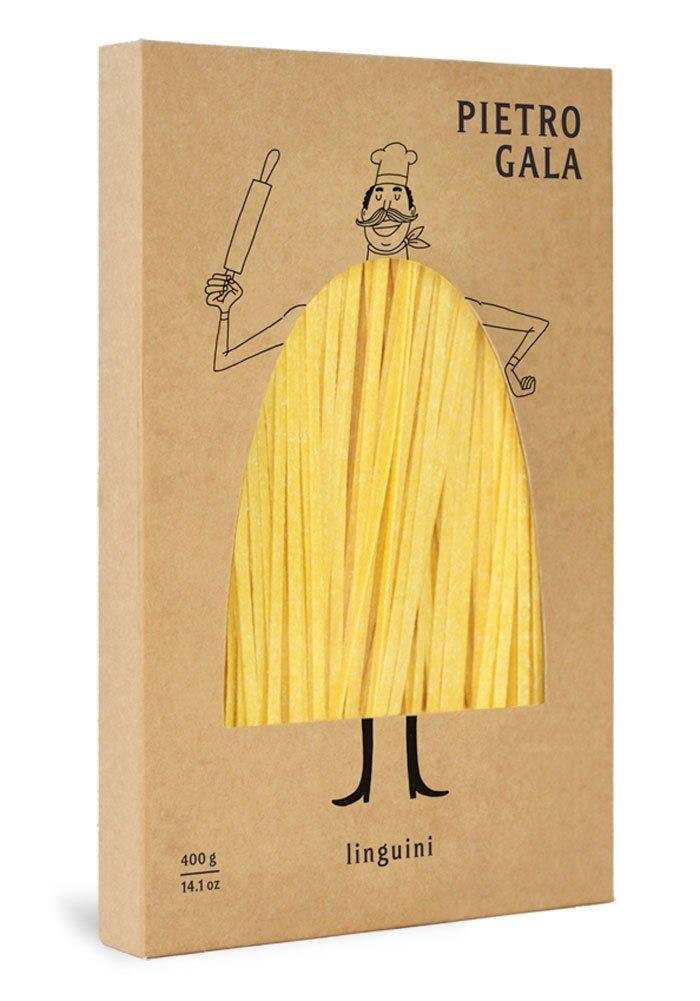 Необычный дизайн упаковки для пасты (макарон) марки «Pietro Gala».