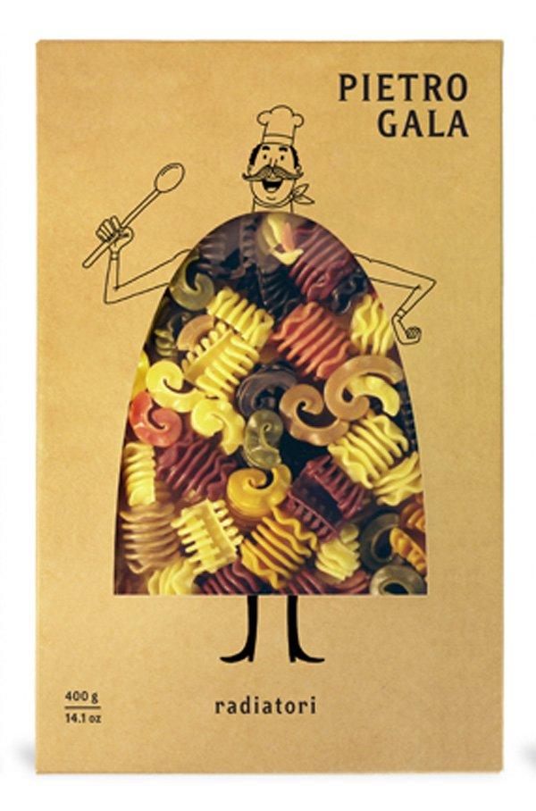 Необычный дизайн упаковки для пасты (макарон) марки «Pietro Gala» 3