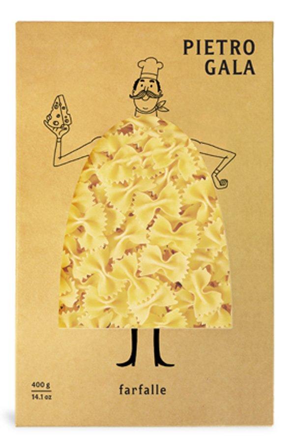 Необычный дизайн упаковки для пасты (макарон) марки «Pietro Gala» 4