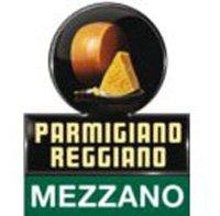 Молодой Parmigiano-Reggiano знак настоящего сыра mezzano