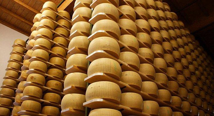 Как производят настоящий пармезан. Созревание сыра. Склад пармезана Parmigiano-Reggiano