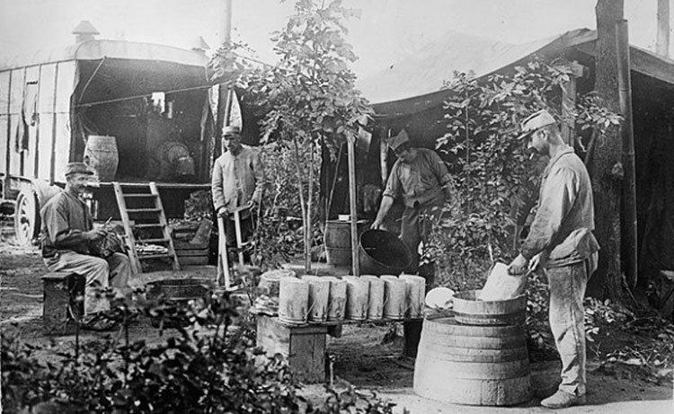Полевая кухня в 1 Мировую войну