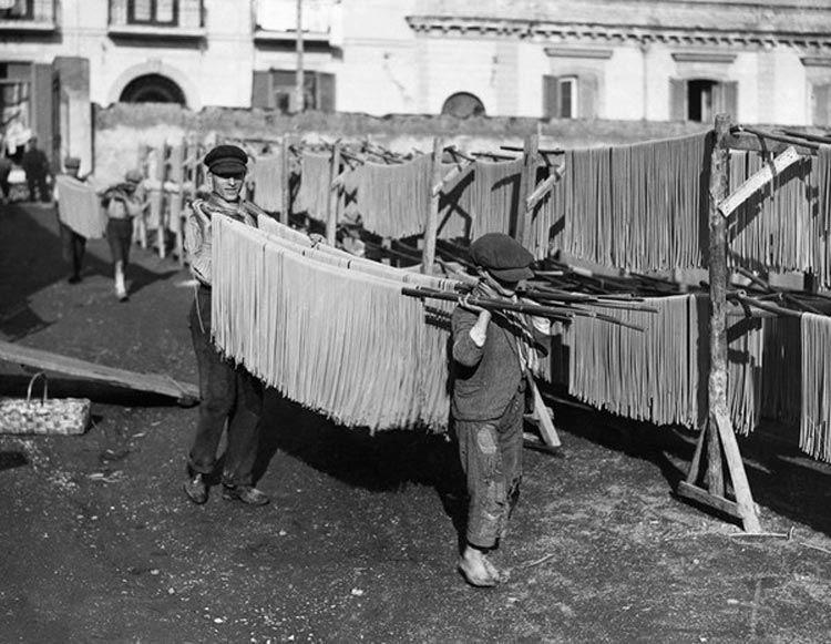 Сушка макарон и производство до 20 века