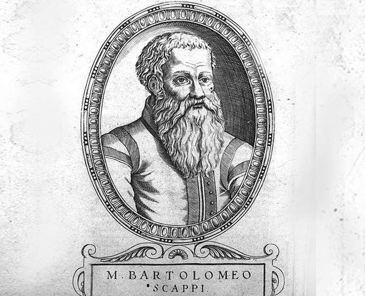 Повар папского двора, с титулом пфальцграфа, Бартоломео Скаппи (итал.Bartolomeo Scappi)