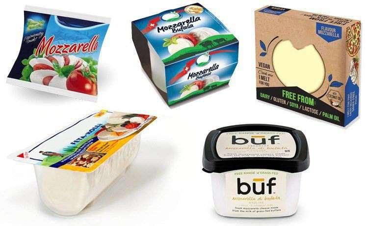 Сыр моцарелла в упаковке