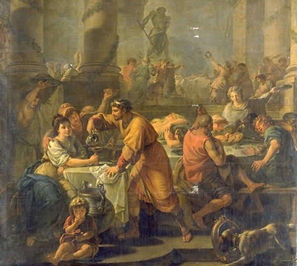 Трапеза в Древнем Риме