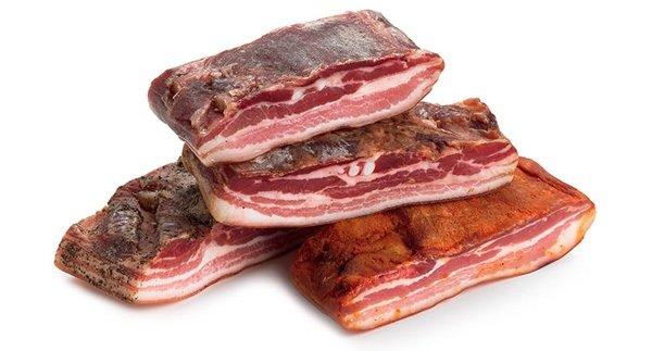 pancetta - сыровяленая свиная грудинка