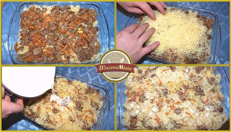 Макароны с говядиной запеченные в сливочном соусе. Приготовление. Шаг 5
