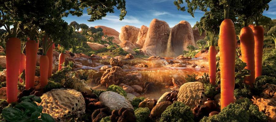 Картины из продуктов и съедобные ландшафты Карла Уорнера 5