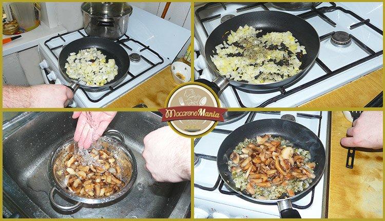 Макароны с курицей и грибами, вином и травами. Приготовление. Шаг 2