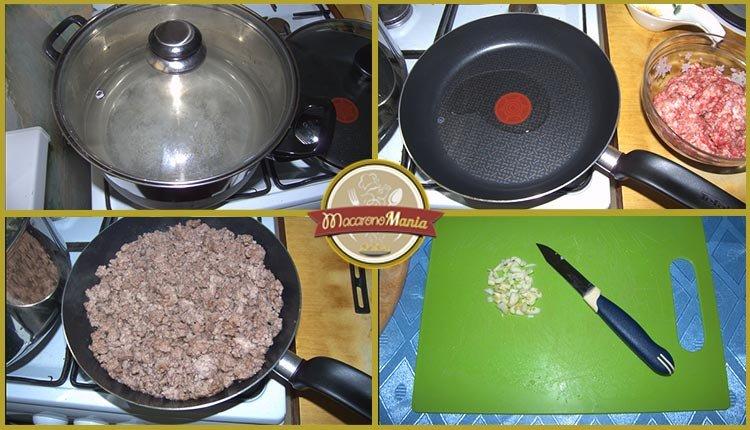 Конкильони с фаршем в томатном соусе. Пошаговое приготовление. Шаг 1