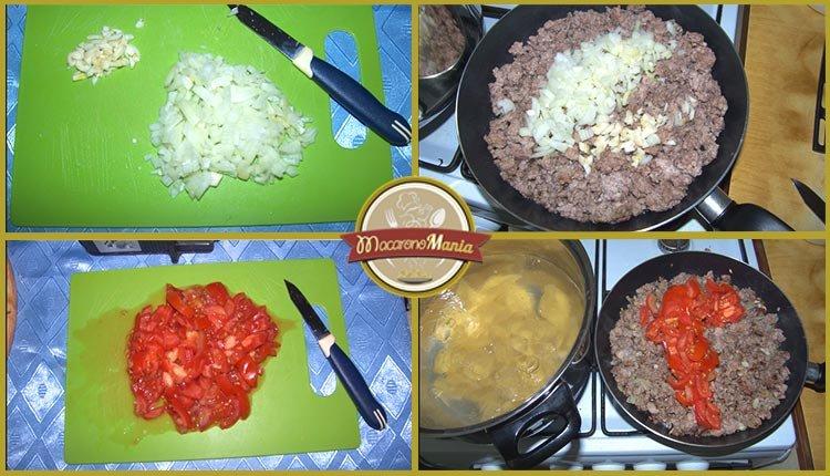 Конкильони с фаршем в томатном соусе. Пошаговое приготовление. Шаг 2