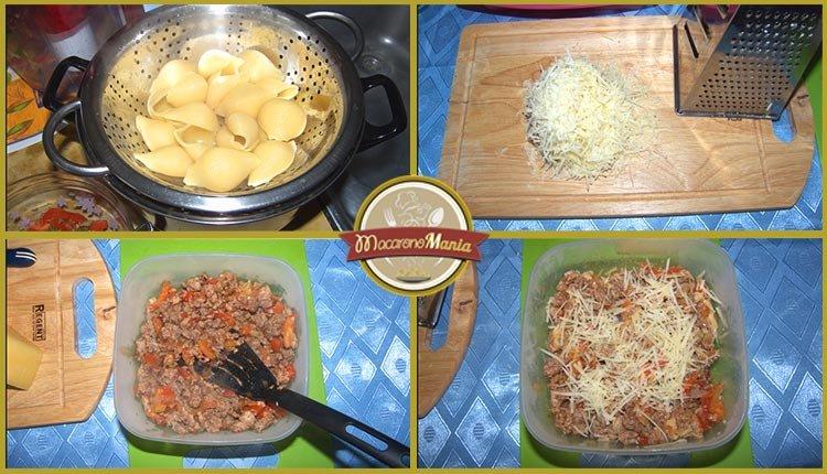 Конкильони с фаршем в томатном соусе. Пошаговое приготовление. Шаг 3