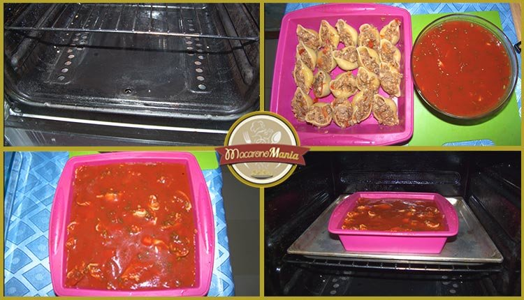 Конкильони с фаршем в томатном соусе. Пошаговое приготовление. Шаг 5