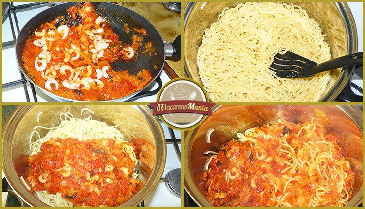 Спагетти с креветками под соусом маринара. Приготовление. Шаг 5
