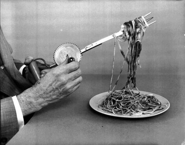 """""""ленивая"""" вилка для спагетти"""