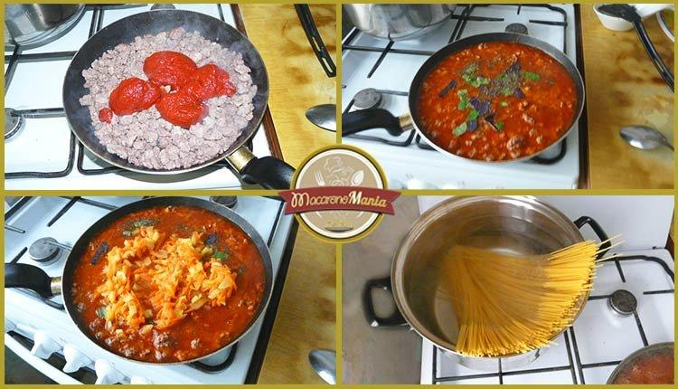 Спагетти болоньезе. Пошаговое приготовление. Шаг 3