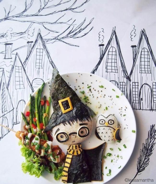 Фуд арт. Картины на тарелках для детей от Саманты Ли 2