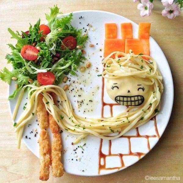 Фуд арт. Картины на тарелках для детей от Саманты Ли 11