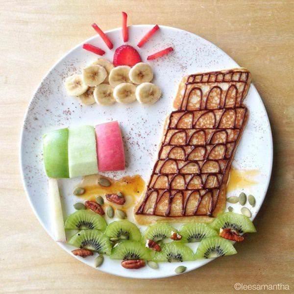 Фуд арт. Картины на тарелках для детей от Саманты Ли 12