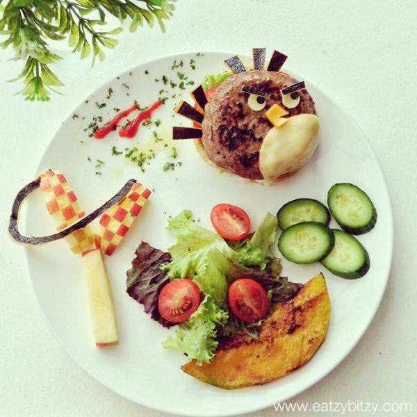 Фуд арт. Картины на тарелках для детей от Саманты Ли 15