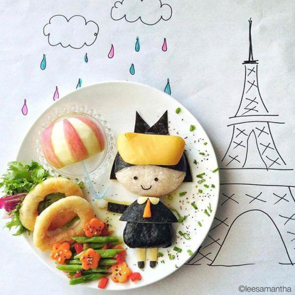 Фуд арт. Картины на тарелках для детей от Саманты Ли 16