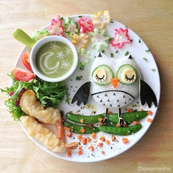 Фуд арт. Картины на тарелках для детей от Саманты Ли 7