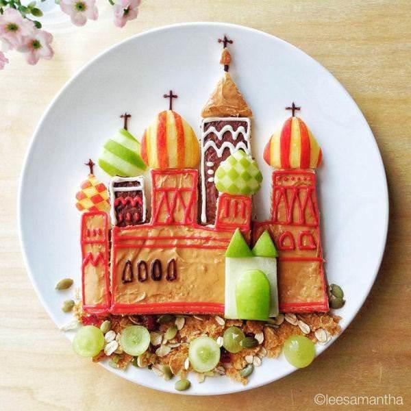 Фуд арт. Картины на тарелках для детей от Саманты Ли 8