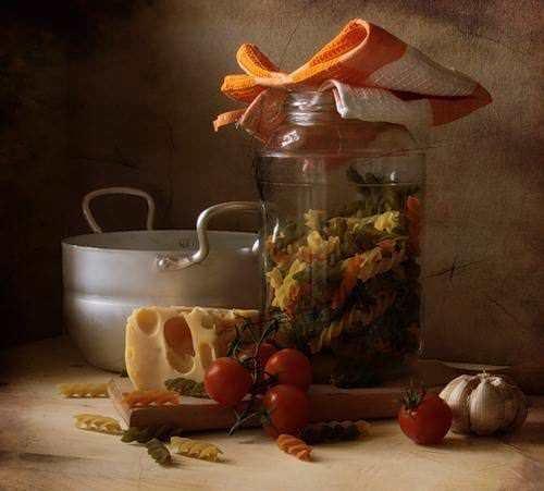 Натюрморты с макаронными изделиями. Картинки с макаронами 2