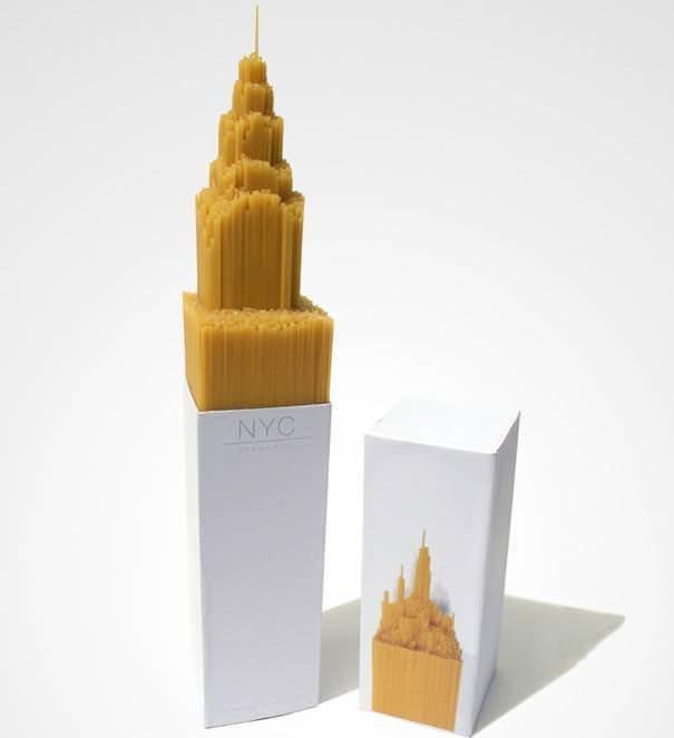 Упаковка спагетти в форме Эмпайр-стейт-билдинг 2