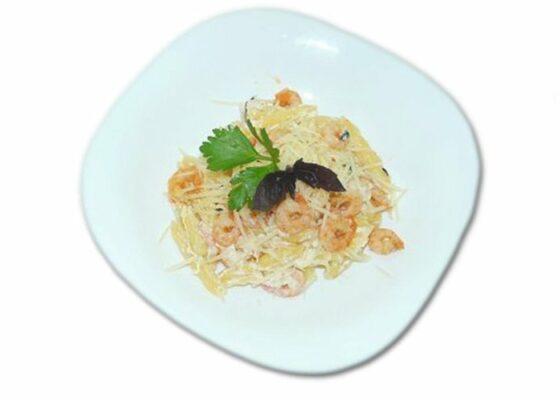 Паста с креветками в сливочном соусе альфредо. Пошаговый рецепт с фото
