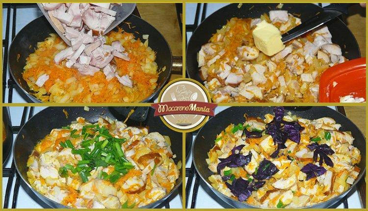Сырный суп с курицей и вермишелью. Приготовление. Шаг 4