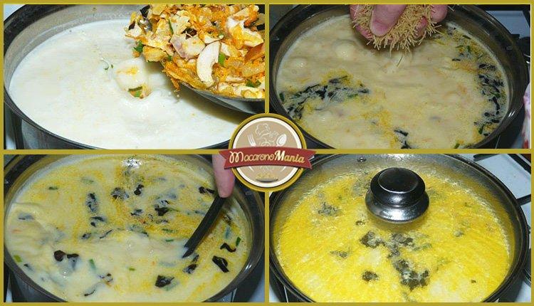 Сырный суп с курицей и вермишелью. Приготовление. Шаг 6