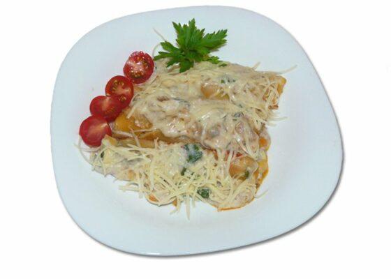 Каннеллони с мясом, грибами и соусом бешамель. Пошаговый рецепт с фото