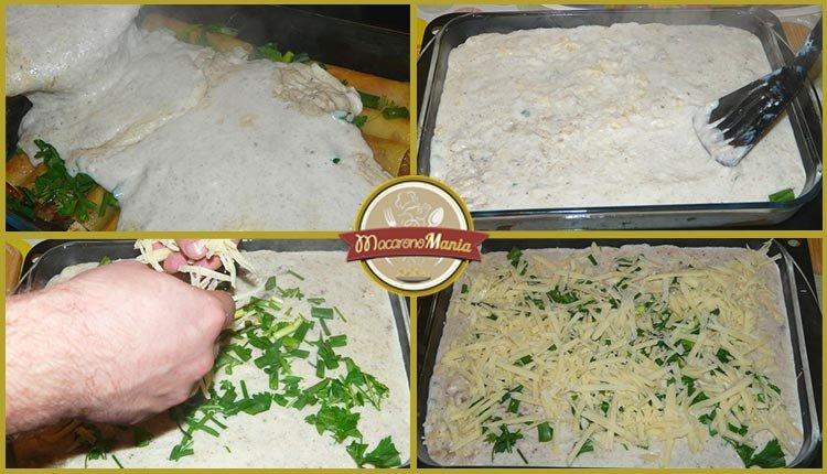 Каннеллони с мясом, грибами и соусом бешамель. Приготовление. Шаг 8