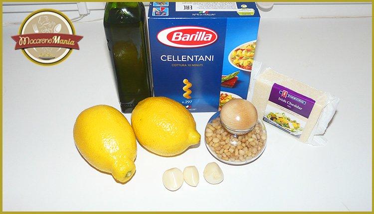 Лимонная паста с сыром. Ингредиенты