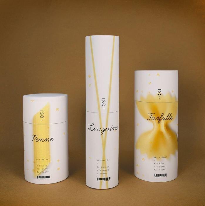 Дизайнерская упаковка для макарон Брайана Ку