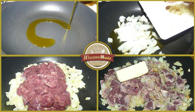 Приготовление рецепта - макароны с печенью. Шаг 4. Как приготовить куриную печень с макаронами