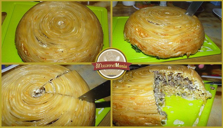 Тимбаль или пирог из макарон. Пошаговый рецепт. Шаг 11
