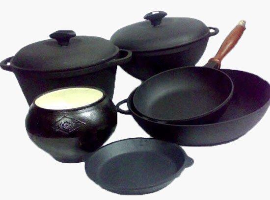 Выбор посуды для приготовления еды. Чугунная посуда
