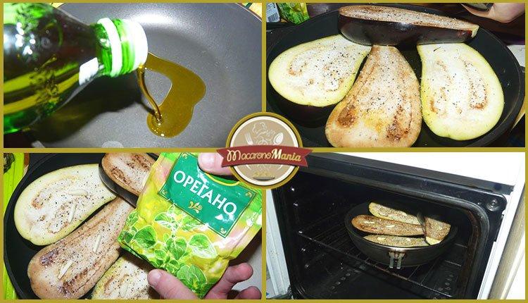 Баклажаны с пастой запеченные в духовке. Пошаговый рецепт. Шаг 2