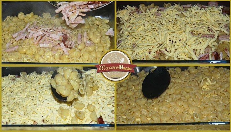 Макароны с сыром в духовке или Мак н чиз с мясом. Пошаговый рецепт. Шаг 5