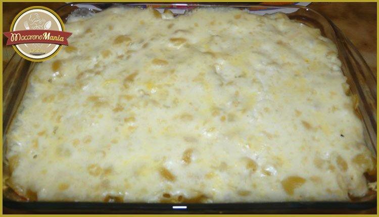 Макароны с сыром в духовке или Мак н чиз с мясом. Пошаговый рецепт. Шаг 7