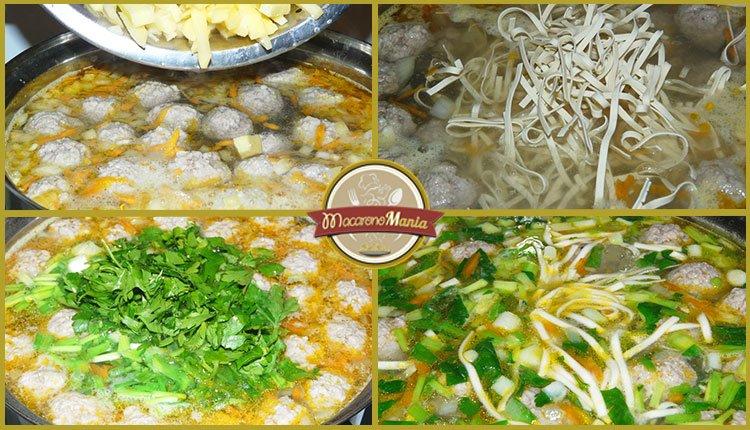Суп с фрикадельками и лапшой. Пошаговый рецепт. Шаг 6