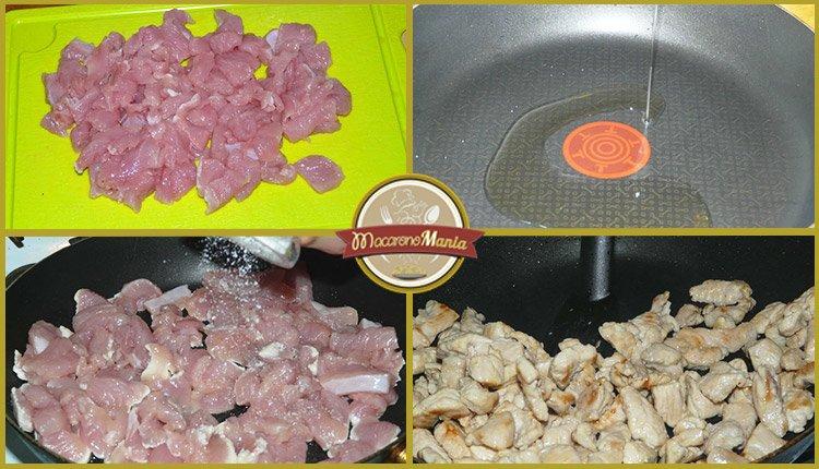 Макароны с фасолью и индейкой в томатном соусе. Пошаговый рецепт. Шаг 1
